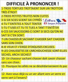 """des """"vire-langue"""" - #des #virelangue"""