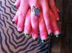 Acrylic Camo nails created by www.polishednailsok.com latest tweets @Shannon Lynk;  instragram @Polished Nail Salon #Yukon #OKC