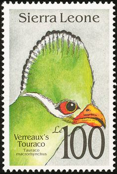Yellow-billed Turaco stamps - mainly images - gallery format
