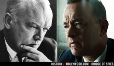 """James B. Donovan and actor Tom Hanks, who portrays Donovan in the Bridge of Spies movie. Read """"Bridge of Spies: History vs. Hollywood"""" at http://www.historyvshollywood.com/reelfaces/bridge-of-spies/"""