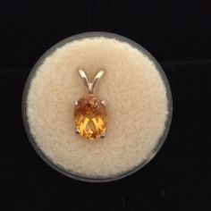 Genuine Citrine Pendant w/o Chain Set in SS NWOT Brilliant Genuine Citrine pendant w/o chain set in SS. hand set. Jewelry Earrings