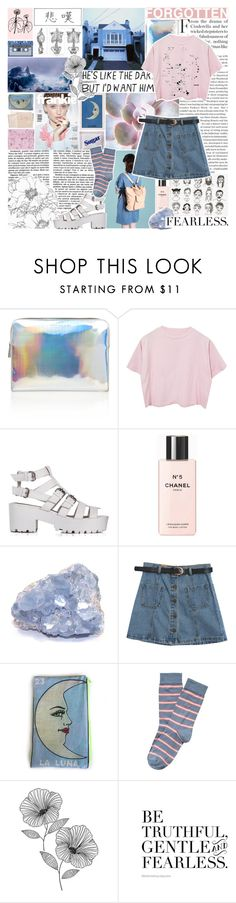"""""""I woke up in the morning losing my mind"""" by obliviate ❤ liked on Polyvore featuring Martha Medeiros, Marc by Marc Jacobs, Chanel, Chicnova Fashion, Hanley, WallPops, Hahn, women's clothing, women's fashion and women"""