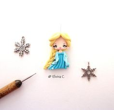 Anna with all her Scandinavian embroidery and Elsa with silvery touches. Description from deviantart.com. I searched for this on bing.com/images