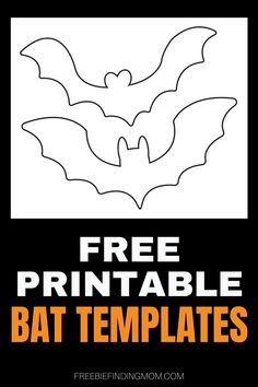 Do you want a fun way to get the kids in the Halloween spirit? Download these Free Bat Printables and let them craft their own spooktacular artwork. Here you'll find printable bat templates without color that make perfect Halloween coloring pages and bats that are filled in with color that the kids can cut out to make great printable Halloween decorations. Happy Halloween! #printablebatshalloween #printablebatstemplate #printablehalloweendecorations #printablehalloweencoloringpages