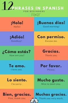 Spanish greetings and most popular phrases! If you want to have daily vocabulary and culture facts of Spanish and Latin American culture, make sure to follow us on Instagram Espaker #spanishfacts