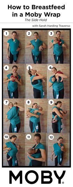 Nursing in a Moby wrap!!