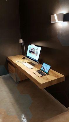 home office furniture l shaped desk - Room Design Home Office Desks, Home Office Furniture, Home Interior, Decor Interior Design, Simple Computer Desk, Computer Build, Office Table Design, L Shaped Desk, New Room