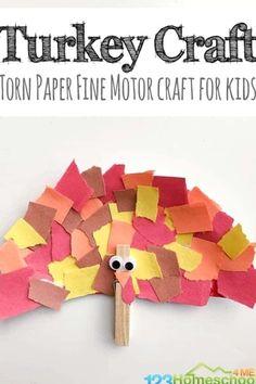 Torn Paper Turkey Craft