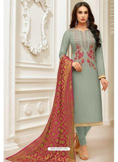 Wholesale Upada Silk Embroidered Fancy Event Wear Salwar Suit With Dupatta Ladies Suits Indian, Suits For Women, Pakistani Outfits, Indian Outfits, Frock Fashion, Fashion Dresses, Indian Designer Outfits, Designer Dresses, Latest Salwar Kameez Designs