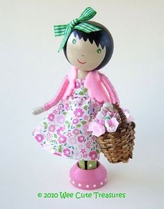 Wee Cute Treasures: Search results for clothespin doll