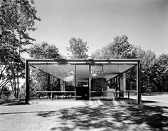For Sale on - Glass House, Philip Johnson, New Canaan, CT, by Ezra Stoller. Offered by Yossi Milo Gallery. Eero Saarinen, Frank Lloyd Wright, School Architecture, Modern Architecture, Modern Buildings, Philip Johnson Glass House, Johnson House, New Canaan, American Modern