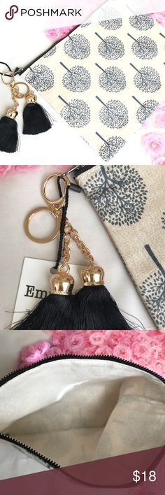 "SALE!!!❗️Tree print keychain tassel pouch bag TREE PRINT TASSEL KEYCHAIN POUCH Zip Closure GREAT FOR ON THE GO OR USE AS COSMETIC BAG GREAT FOR ANY ISE GREAT SIZE! ATTACHED WITH KEYCHAIN TASSELS  Length - 10.5"" Width - 0.75"" Height - 8"" Cotton     🛍BUNDLE & SAVE 15%🛍 ✨TOP RATED SELLER✨ 📦SAME DAY OR NEXT DAY SHIPPING!📦 ❤REASONABLE OFFERS WELCOME❤ ❌NO TRADES OR PAYPAL❌ Bags Clutches & Wristlets"