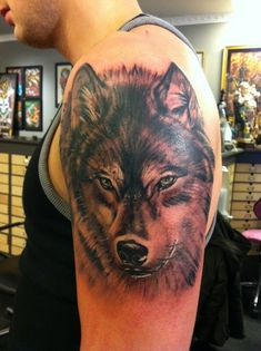 yet another wolf tattoo by jrunin.deviantart.com on @DeviantArt