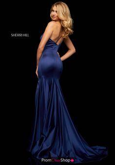 Buy dress style № 52886 designed by SherriHill Sherri Hill Prom Dresses, Pageant Dresses, Satin Dresses, Homecoming Dresses, Formal Evening Dresses, Formal Gowns, Strapless Dress Formal, Formal Wear, Designer Prom Dresses