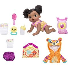 Baby Alive Baby Dolls Go Bye Bye Kids Toys - Black Hair * See this great product. (This is an affiliate link) Toddler Toys, Baby Toys, Kids Toys, Taking Care Of Baby, Black Friday Toy Deals, Baby Alive Dolls, Baby Doll Accessories, Changing Mat, Bye Bye