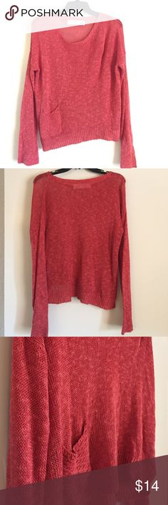 """Anthropologie Sparrow Sweater Burnt orange sweater in gently used condition with minor pulling (pictured). 56% Linen, 23% Viscose, 21% Cotton. 22"""" length Anthropologie Sweaters Crew & Scoop Necks"""