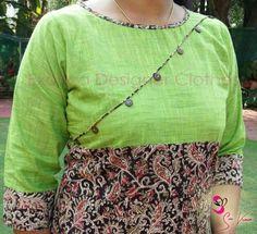 How to make different types of kurthi patterns - Simple Craft Ideas Dress Neck Designs, Kurti Neck Designs, Kurta Designs Women, Blouse Designs, Salwar Neck Patterns, Salwar Pattern, Kalamkari Designs, Churidar Designs, New Dress Pattern