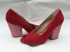Sapato de Salto Fofura Vermelho