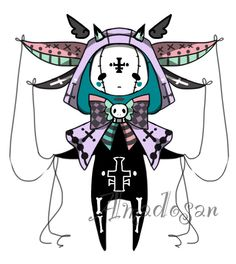 Pastel goth monster pet adoptable CLOSED by AS-Adoptables.deviantart.com on…