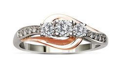 Ladies Diamond Anniversary Ring in Rose and White Gold $999.99!