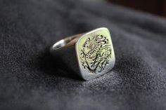 Der Siegelring aus Silber für alle Drachen-, Fantasy-und China-Fans! Der Siegelring ist ausmassivem 925er Sterling-Silber hergestellt Qua