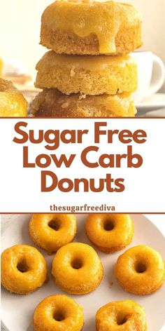 Sugar Free Low Carb Donuts, a simple baked donut recipe for almond flour glazed donuts that is made without sugar.