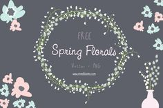 It's just a pure joy to share with you another awesome freebie Spring Floral Free Vectors Pack to bring the energetic spring vibe to your new project. This pack is brought in PNG, EPS format with 4 beautiful floral vectors and PNG elements. This freebie is perfect for creating a flawless holiday, greeting card, wedding invitation, logos, posters and more.