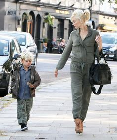 Kingston Rossdale in London with Family