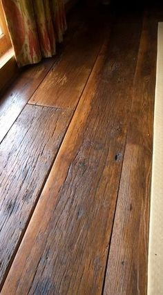laminate flooring wide plank distressed - Reclaimed Antique Hardwood click the image or link for more info. Wide Plank Flooring, Basement Flooring, Diy Flooring, Wooden Flooring, Kitchen Flooring, Hardwood Floors, Flooring Ideas, Flooring Options, Reclaimed Wood Floors
