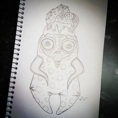 "Still on No.18 ""Goal"" on The Creative Doll Artist Project Feb Challenge I need to bring this Abnormalz sketch to life! I'm so, so, so, sooooo in love with this creepy cutie!!! . This is my take of a triple scoop ice cream on a cone with nuts, sprinkles and yummy syrup ..Abnormalz style of course!!! 😛🍦😛🍦😛🍦 . . . #tcdap #tcdapfeb #artist #artistmakestoys #dollmaker #sculpter #fineartist #meetthemaker #australia #crafty #artistofinstagram #dolls #face #instagreat #bestofday #sydney #eye…"