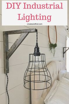 Easy and affordable diy farmhouse pendant lights! Detailed instructions on how to make your own and add some farmhouse style to your house! 12 Awesome Industrial Style Farmhouse Decor To Accent Your Industrial Farm Industrial Home Design, Industrial Apartment, Industrial Bedroom, Industrial House, Industrial Furniture, Industrial Style, Industrial Office, Vintage Industrial, Industrial Farmhouse Decor