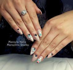 by Marcelina Rawka Indigo Nails Lab - Find more Inspiration at www.indigo-nails.com #Nail #Nailsart #Mani #Aztec #Nude
