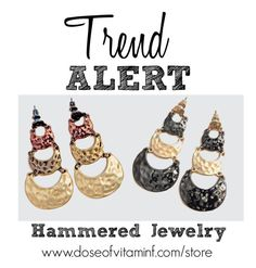 Trend Alert: Hammered Jewelry by styledbydoseofvitaminf on Polyvore featuring polyvore, fashion and style www.doseofvitaminf.com/store