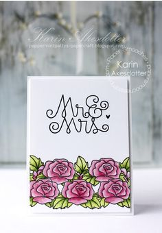 Mr. & Mrs. card by Karin Akesdotter for Paper Smooches -New Beginnings