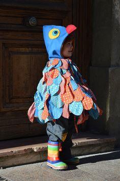 Costume perroquet de Blisscocotte Plus Costume Halloween, Bird Costume, Halloween 2015, Diy Costumes, Sewing For Kids, Diy For Kids, Kindergarten, Carnival Masks, Baby Store