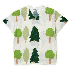 Capsleeve Cotton Tops Forest : SOU • SOU US Online Store