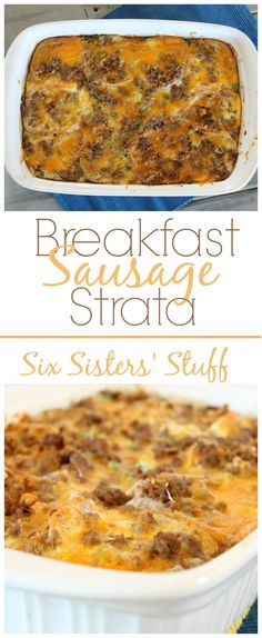 Breakfast Sausage Strata - and easy delicious breakfast!