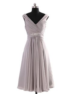 LOVEBEAUTY Women's V Neck Criss Cross Pleated Short Mother of the Bride Dresses Grey 8