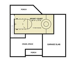 1000 images about house plans with sport courts on for Floor plans with indoor basketball court