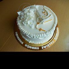 Communion Cakes, First Communion, Foto Pastel, Christening, Cake Decorating, Album, Desserts, Archive, Baby Cakes
