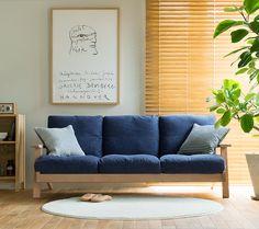3人掛けソファー NOANA|家具・インテリア通販 Re:CENO【リセノ】 Japanese Apartment, Diy Home Decor, Room Decor, Natural Interior, Wooden Sofa, Japanese Interior, Best Sofa, 3 Seater Sofa, Living Room Modern