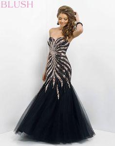Black and silver mermaid dress