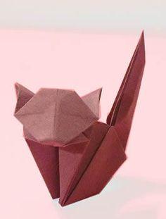 Origami Cat by Jun Maekawa folded by Gilad Aharoni