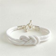 Sailor's Knot Bracelet . White Rope Bracelet . Nautical . Handmade Jewelry . by MoshPoshDesigns. $16.00, via Etsy.