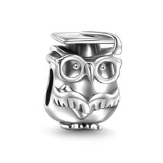 Dr.Owl Charm 925 Sterling Silver