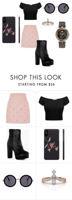 """Sem título #12"" by geiziemmanuelle on Polyvore featuring moda, Topshop, Boohoo, The Row e Versace"