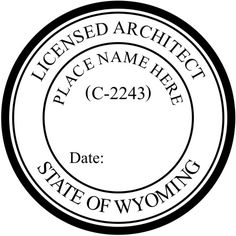 This is old example of the #Wyoming #Architect Seal. This seal was used in previous to April 27, 2001. We also make the current seal with the horse image.