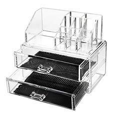 Make Up Organizer, Acelectronic Große Kosmetik Aufbewahrung Organizer - 4 Ebenen 6 Schubladen Acryl