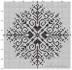The Mother of All Snowflakes – Free Pattern - Mary Corbet - Large Snowflake Cross Stitch / dokey crochet Pattern Xmas Cross Stitch, Counted Cross Stitch Patterns, Cross Stitch Charts, Cross Stitch Designs, Cross Stitching, Cross Stitch Embroidery, Embroidery Patterns, Christmas Cross Stitch Patterns, Blackwork Cross Stitch