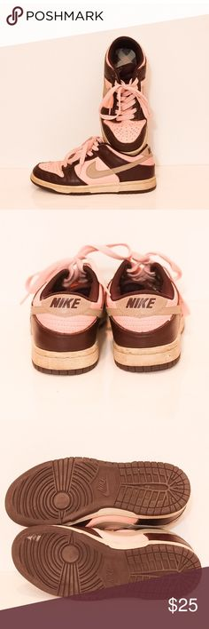 Pink Nike Dunks Pink Low Nike Dunks . There's a small white mark on the show (a picture has been provided) . Overall in good condition. Nike Shoes Sneakers